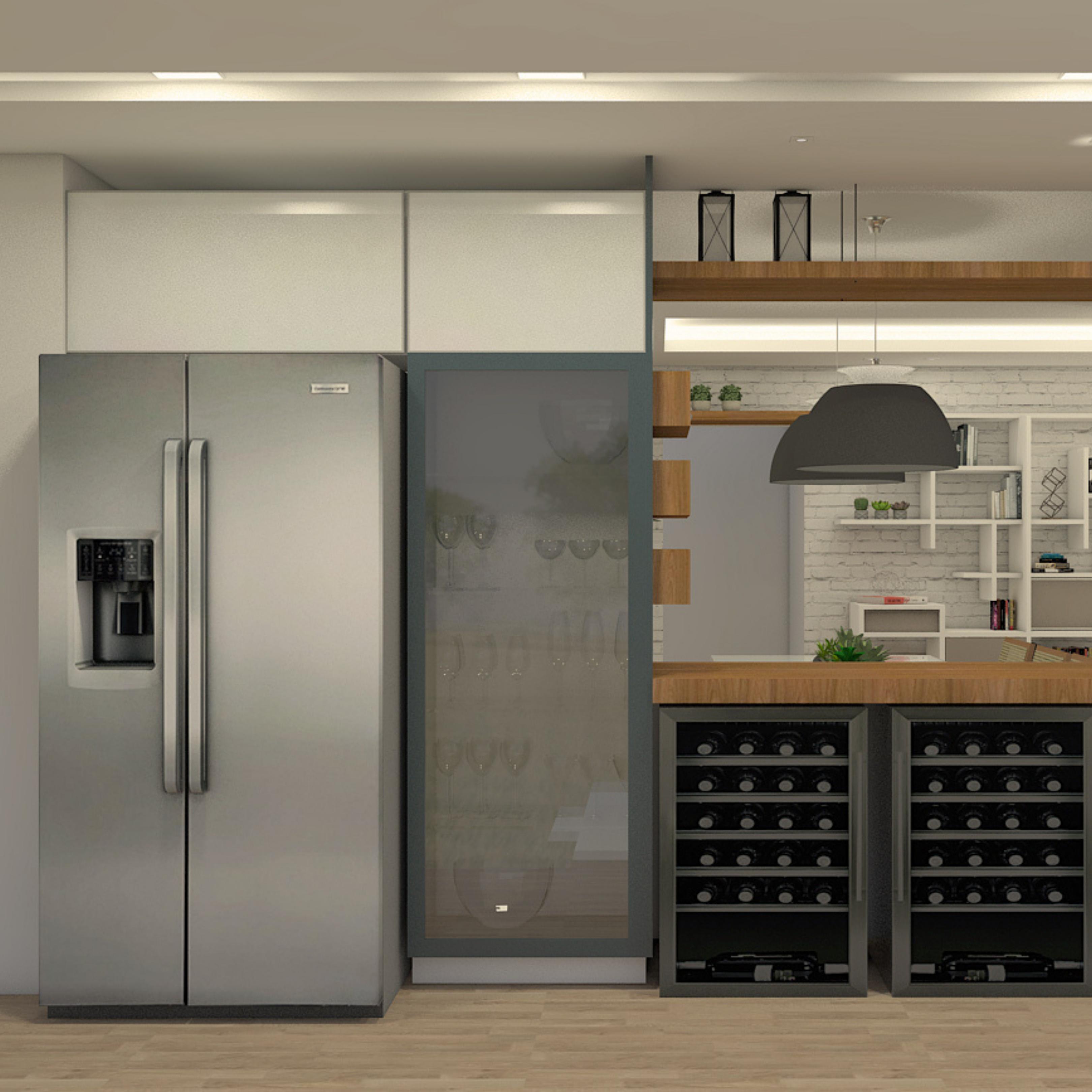 cozinha-intergrada-com-varanda-adega